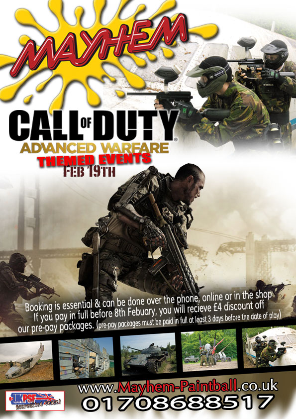 Call of duty flyer